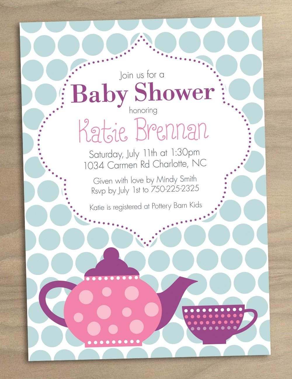 10 Attractive Invitation Ideas For Baby Shower high tea baby shower invites templates sempak e39380a5e502 2020