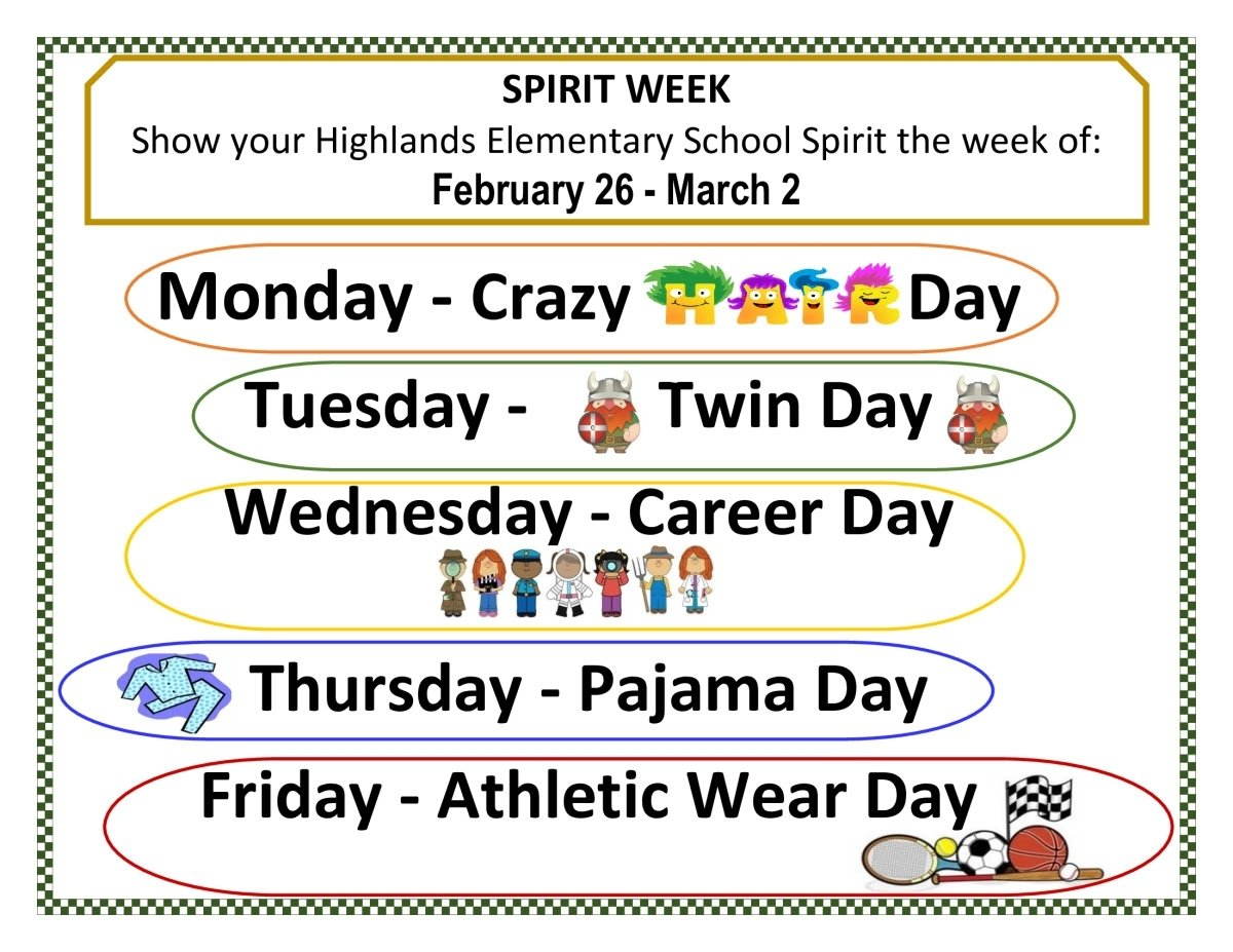 10 Most Recommended Spirit Week Ideas For Elementary School highlands elementary spirit week discover pittsburg 2020