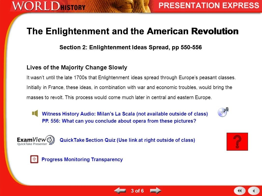 history of the modern world from enlightenment to revolution term 1