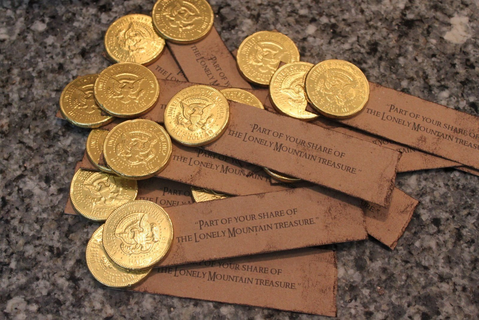 hobbit party food i found these chocolate coins | hobbit party