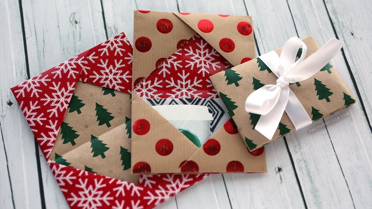 10 Ideal Ideas For Wrapping Gift Cards holiday card series 2016 day 5 diy gift card holder made from 2020
