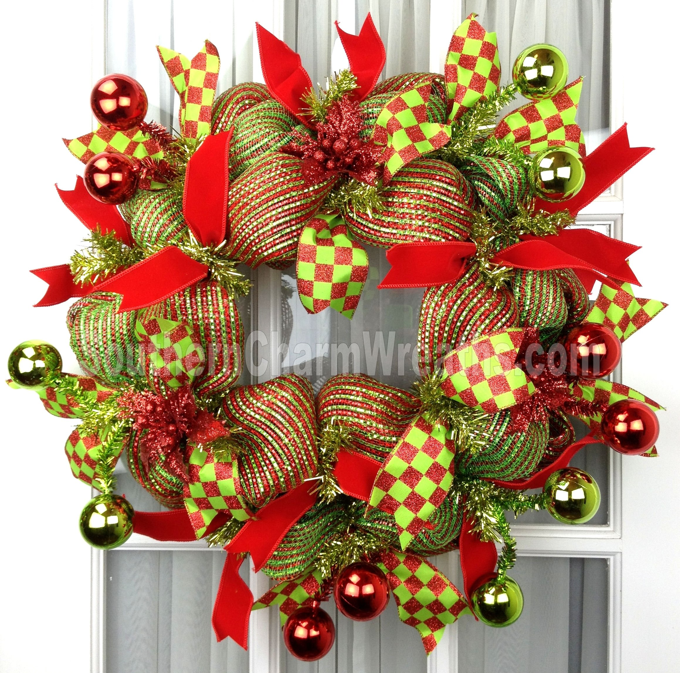 10 Ideal Deco Mesh Christmas Wreath Ideas holiday deco mesh wreaths southern charm wreaths 1 2020