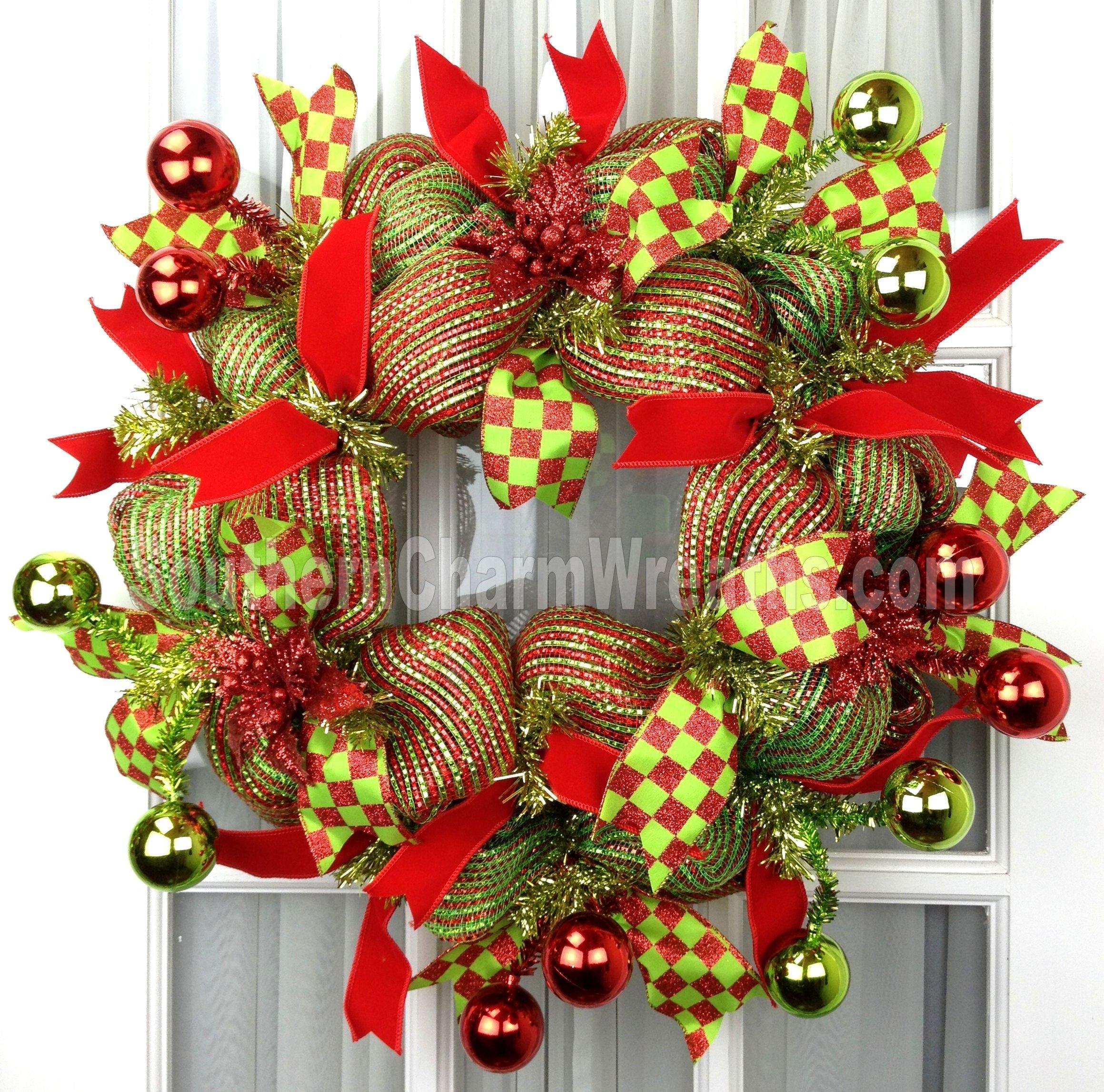 10 Lovely Christmas Deco Mesh Wreath Ideas holiday deco mesh wreaths southern charm wreaths 2020