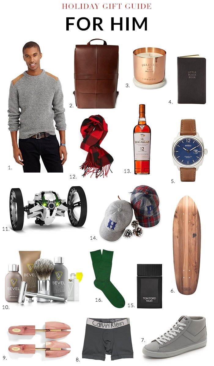 10 Awesome Holiday Gift Ideas For Men holiday gift guide 2014 for him nicole gibbons style 2020