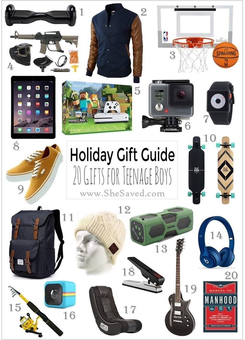 holiday gift guide: gifts for teen boys | christmas shopping list