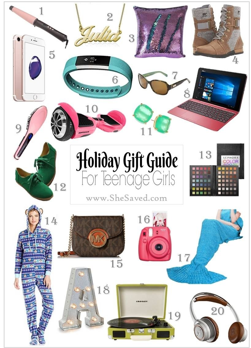 10 Most Recommended Gift Ideas For 16 Year Old Girls holiday gift guide gifts for teen girls shesaved 3 2020