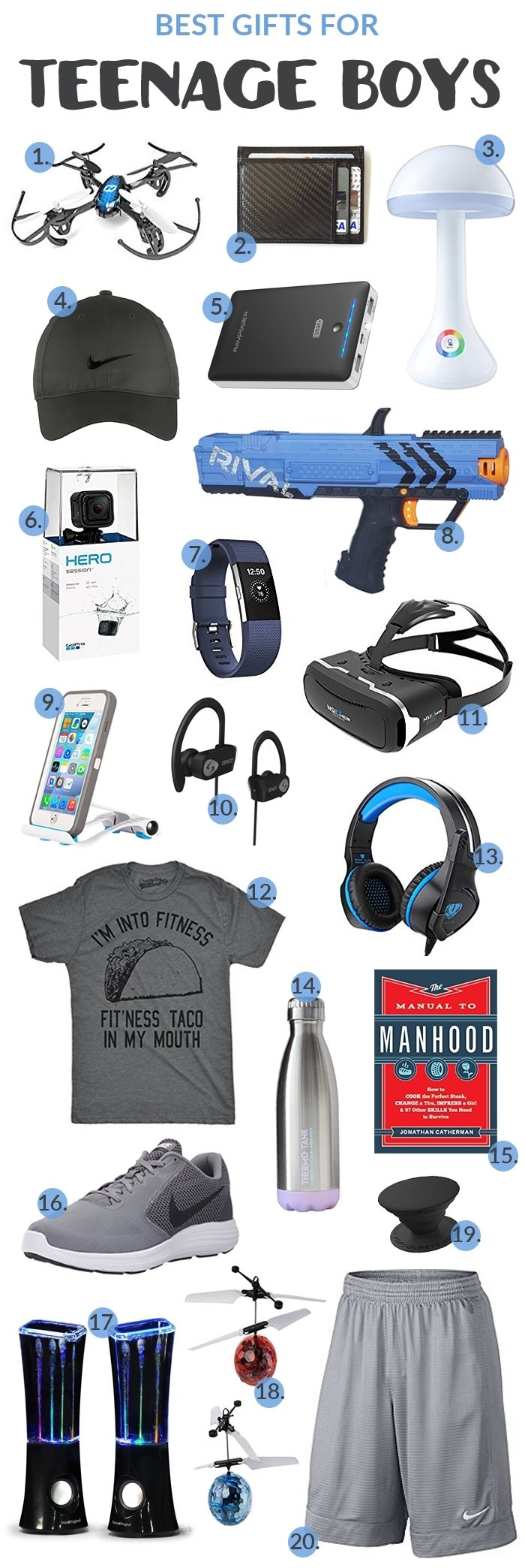 10 Fashionable Cool Gift Ideas For Teenage Guys holiday gift guides whatthegirlssay 2020