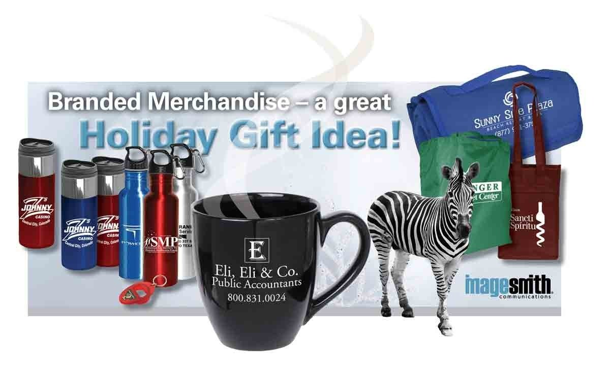 holiday gifts: branded merchandise for staff and customers