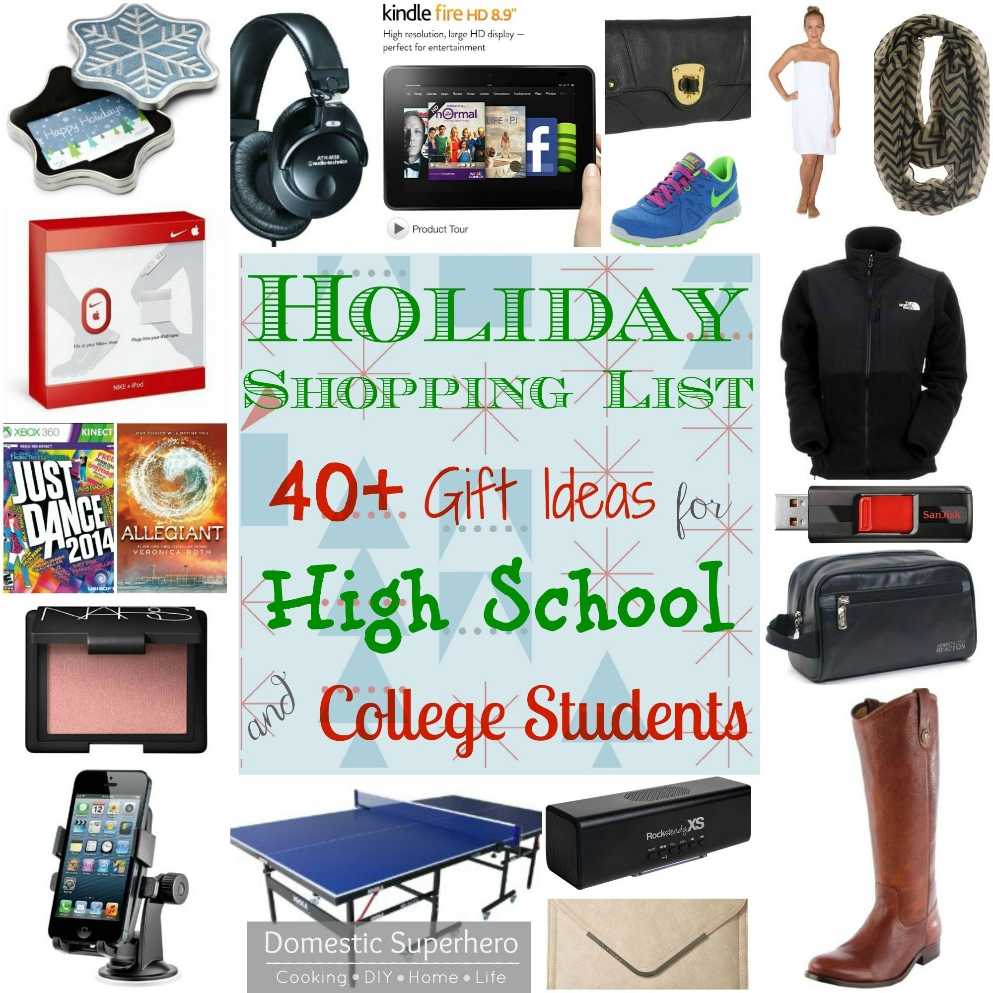 holiday shopping list: 40+ gift ideas for high school and college