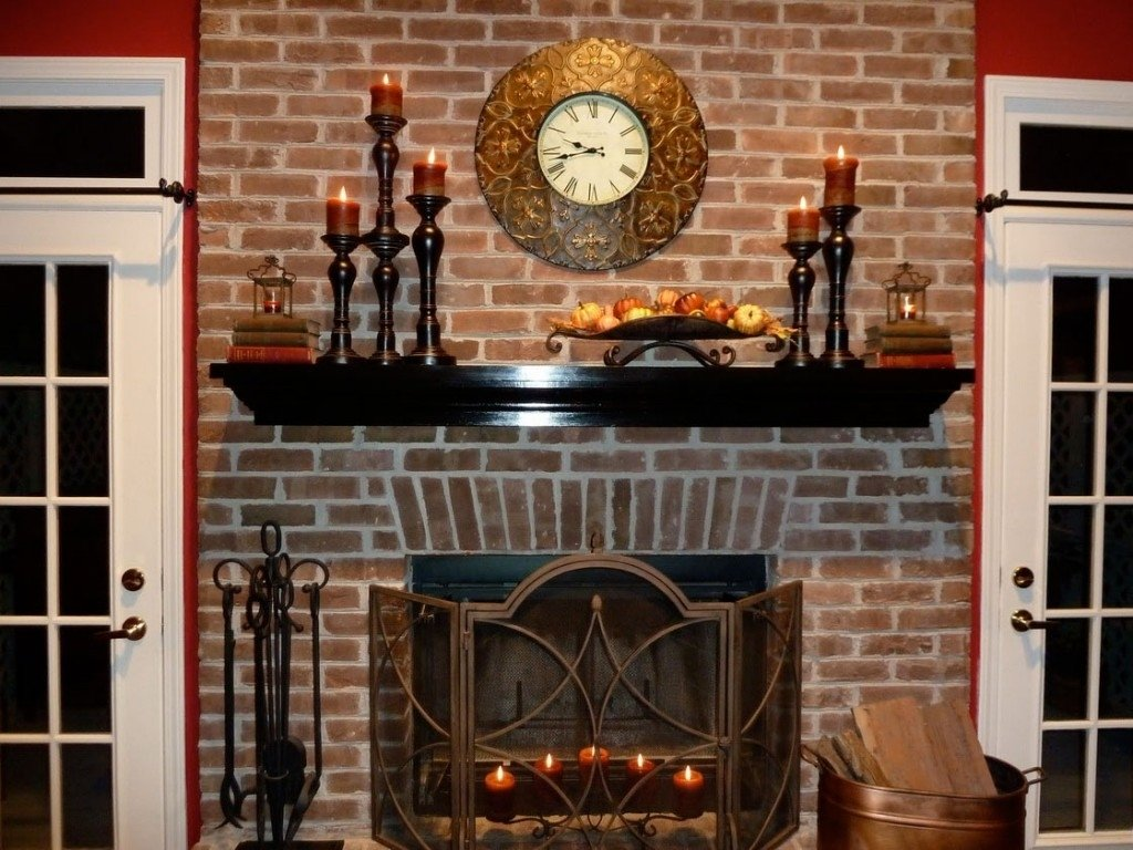home-accessories-black-laminate-wood-color-fireplace-mantel-designs
