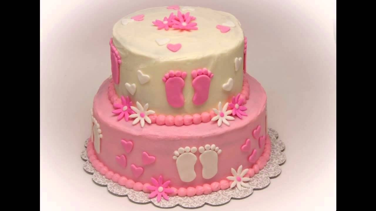 home baby shower cake decorations ideas girls - youtube