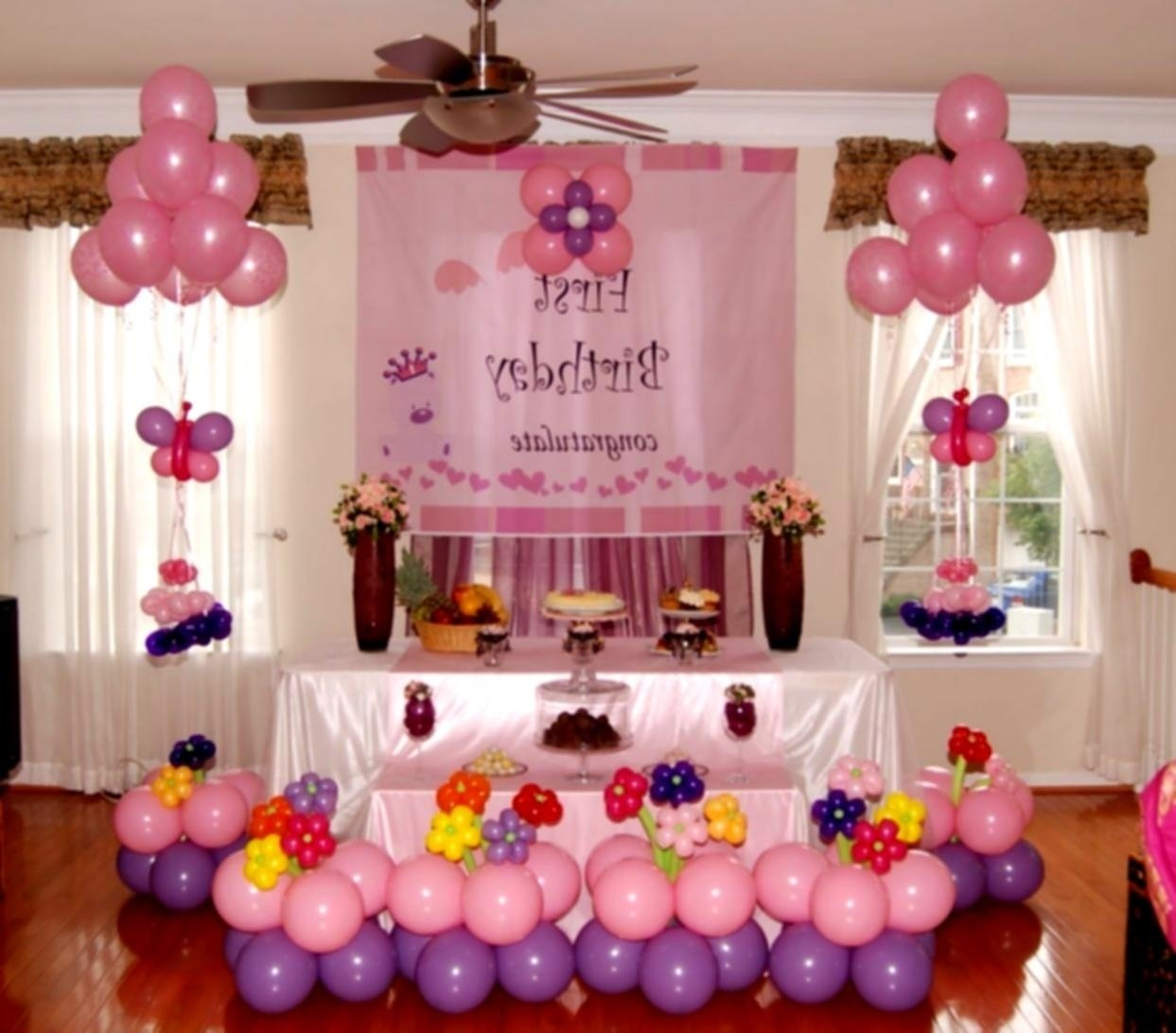 home decoration for birthday party images awesome 1st birthday