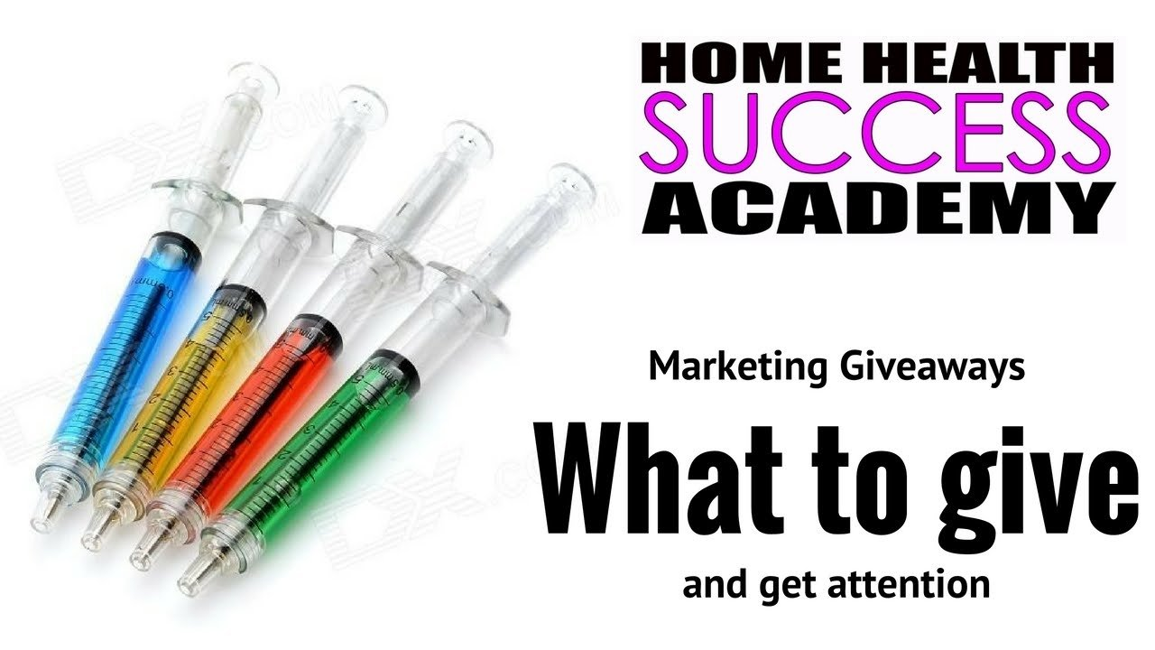 home health marketing: pen giveaway ideas (home care marketing