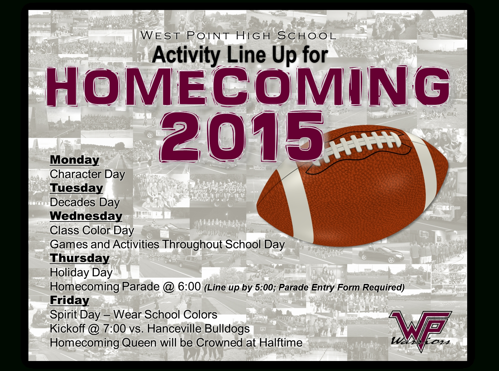 10 Wonderful Homecoming Ideas For High School homecoming 2015 activities west point high school 2020