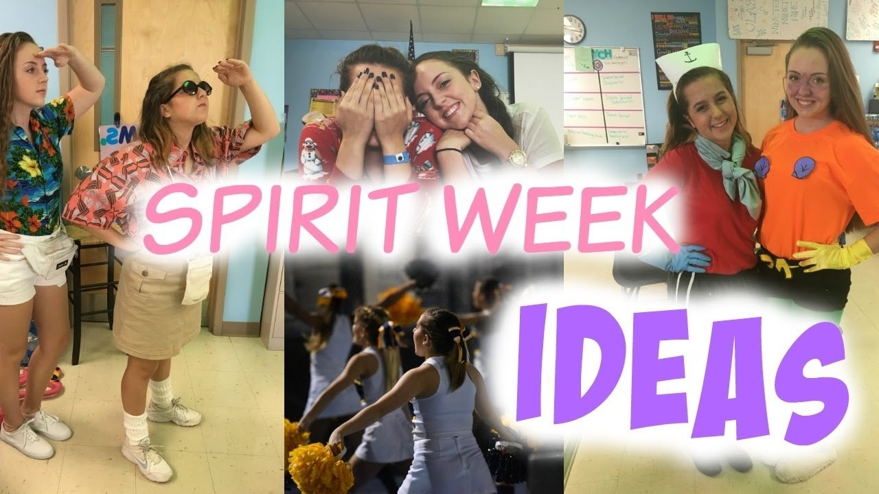 10 Beautiful Spirit Week Character Day Ideas homecoming spirit week ideas youtube 2 2021