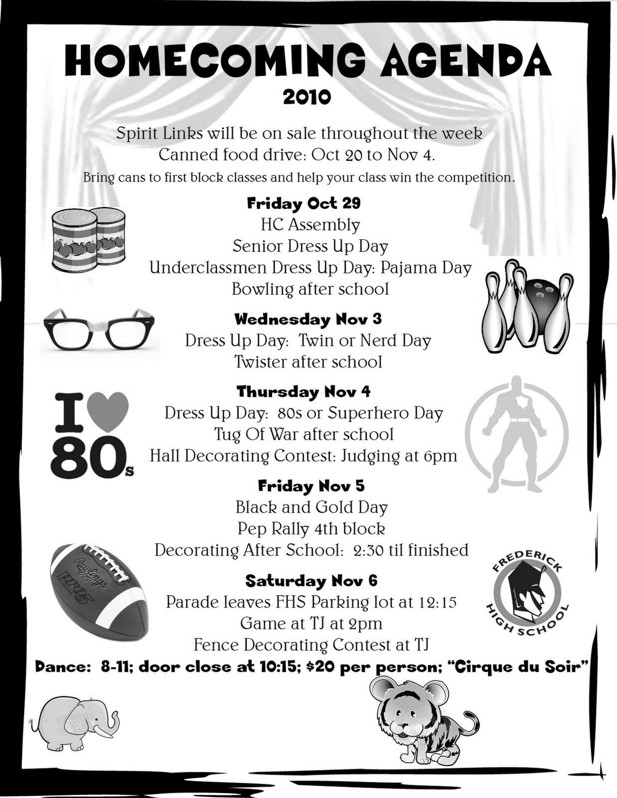 10 Famous Spirit Week Ideas For Middle School homecoming week spirit days student council ideas pinterest 1 2020