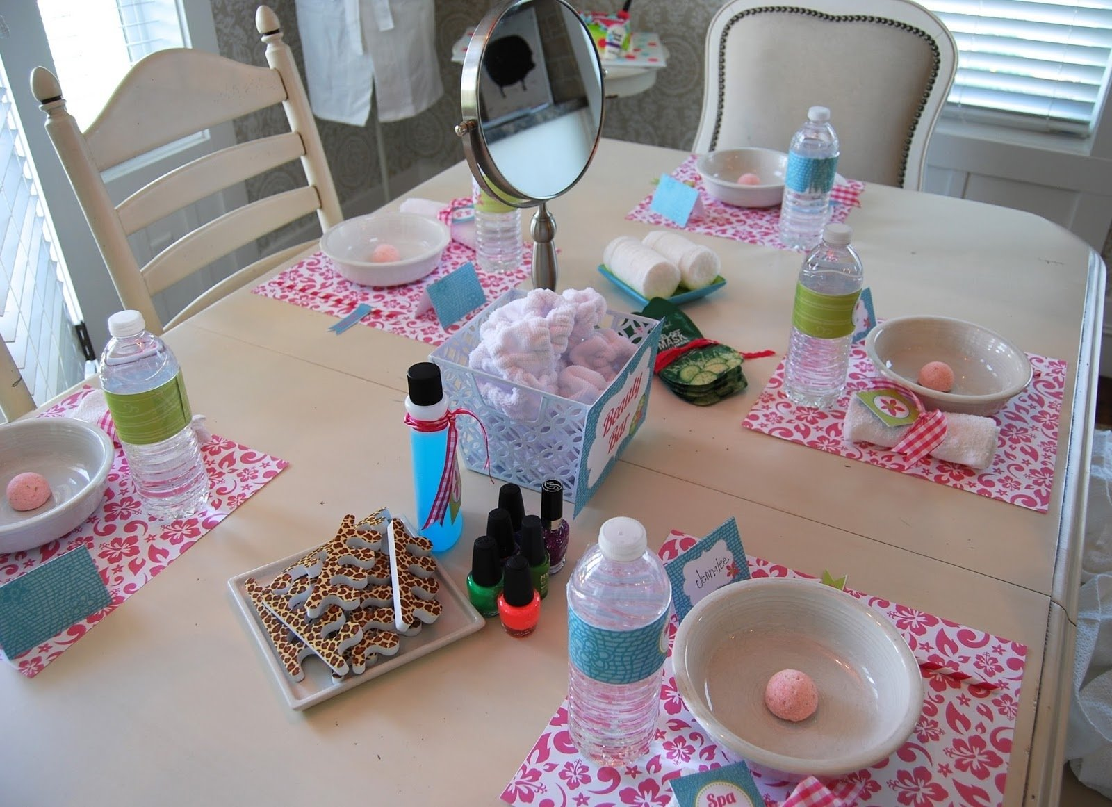 10 Fashionable At Home Spa Party Ideas homeheidi girls birthday spa party 2020