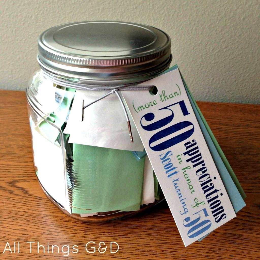 10 Stylish Gift Ideas For 50Th Birthday Homemade 50th Party