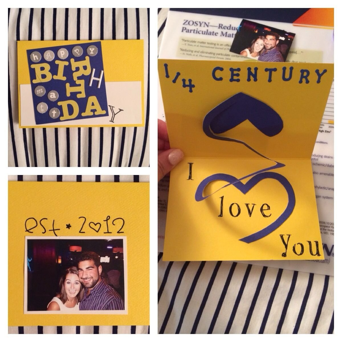 10 Most Recommended 25Th Birthday Ideas For Boyfriend Homemade Card I Made My