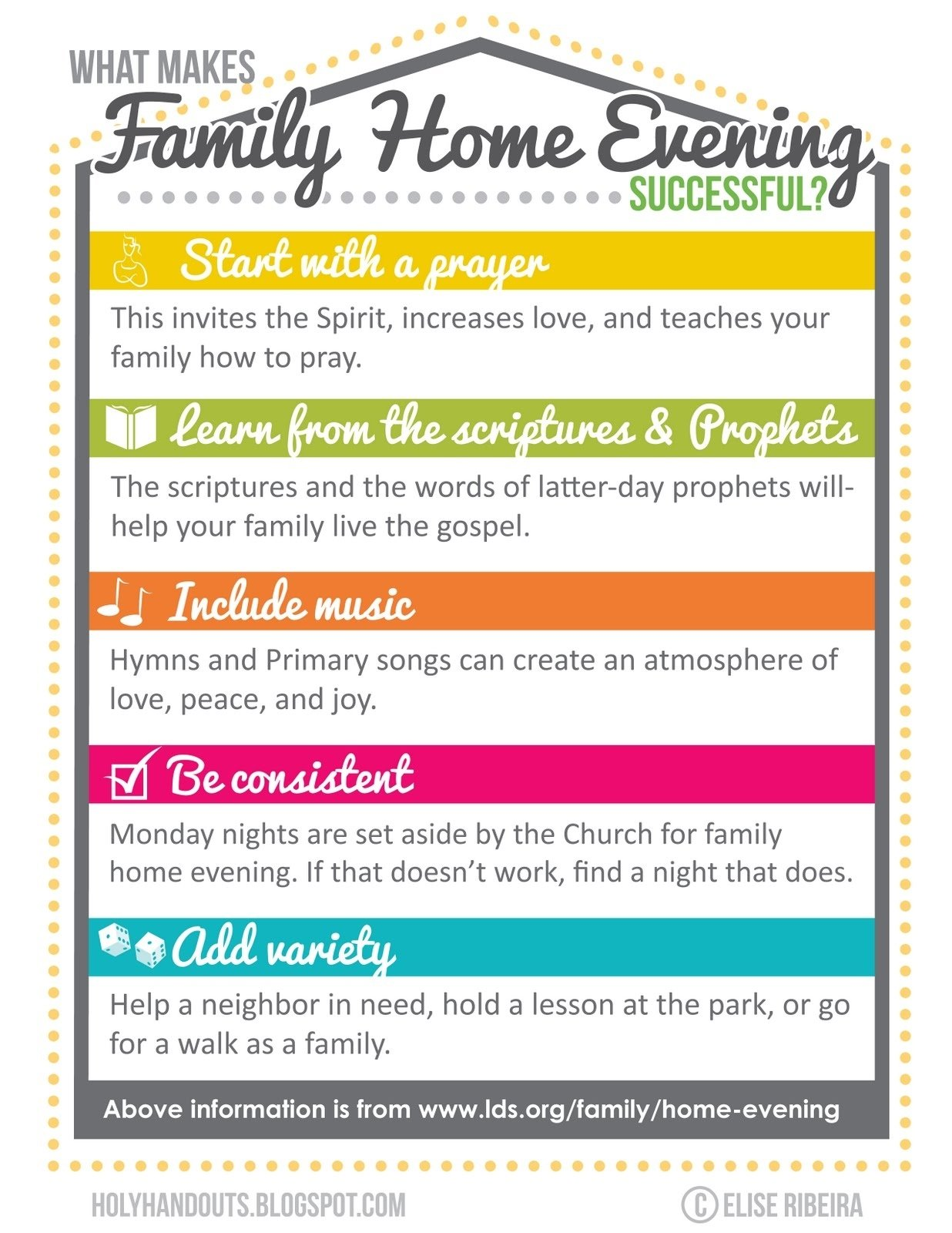 10 Unique Family Home Evening Lesson Ideas homey family home evening ideas lesson on charity lds boutique 1