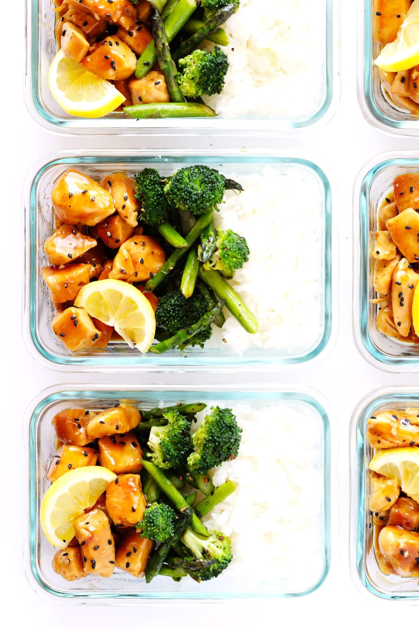 10 Amazing Healthy Lunch And Dinner Ideas honey lemon chicken bowls meal prep gimme some oven