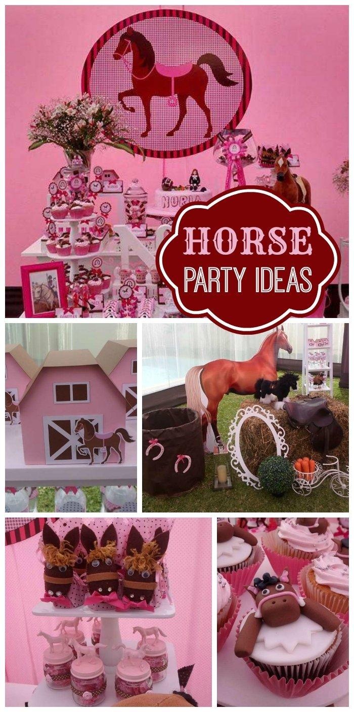 10 Stylish Horse Themed Birthday Party Ideas horses birthday horse lovers girl birthday party girl birthday 2020