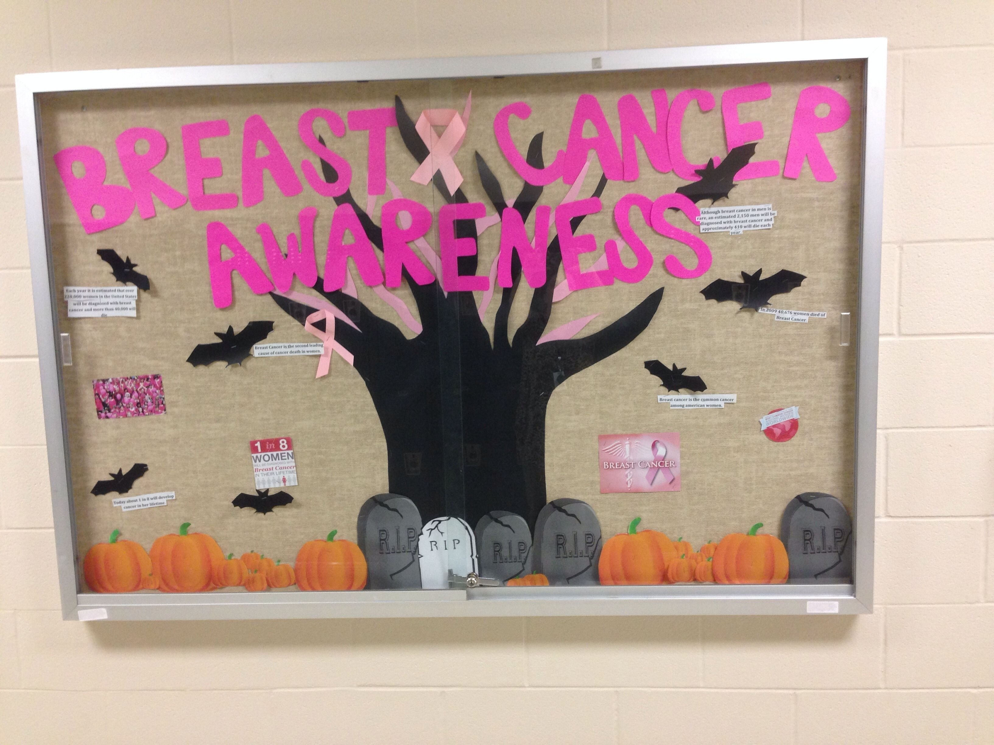 10 Stunning Breast Cancer Awareness Bulletin Board Ideas hosa health science technology bulletin board for october breast 1 2021