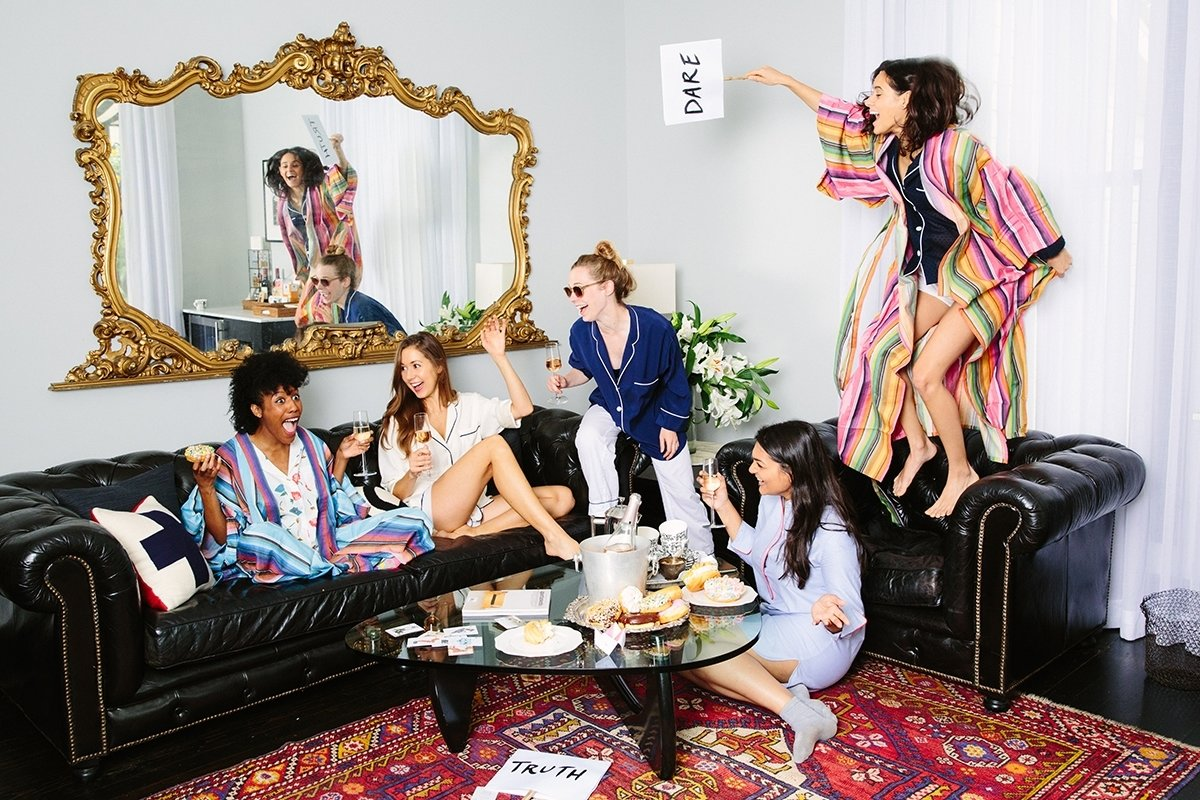 10 Beautiful Pajama Party Ideas For Adults host a grown up slumber party camille styles 2