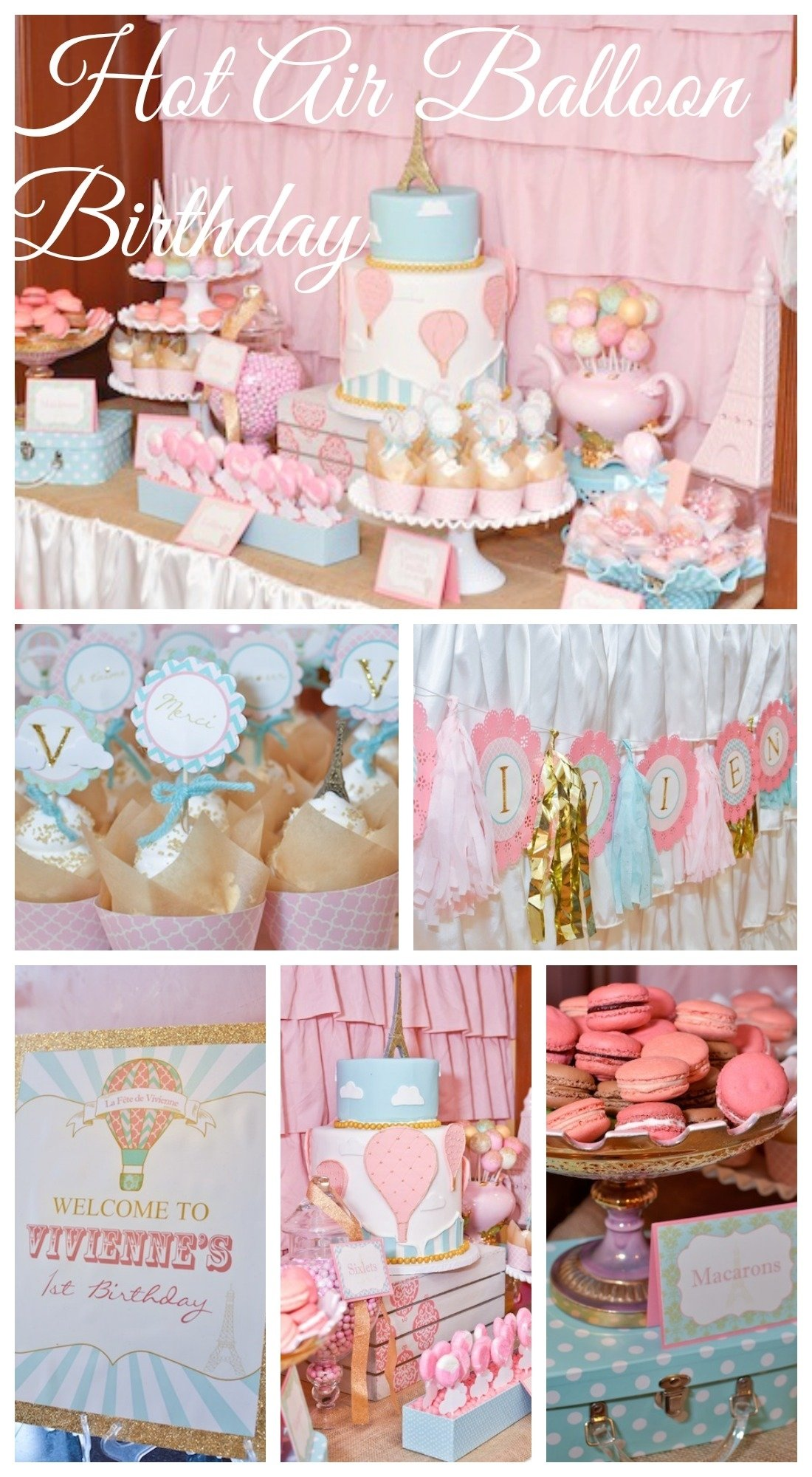 10 Cute Girl Birthday Party Ideas Pinterest hot air balloon girl 1st birthday see more party ideas at 1