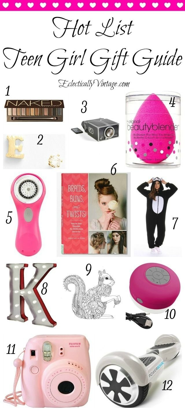 10 Famous Birthday Gift Ideas For Teenage Girls hot list teenage girl gift guide teenage girl gifts girl gifts 5 2020