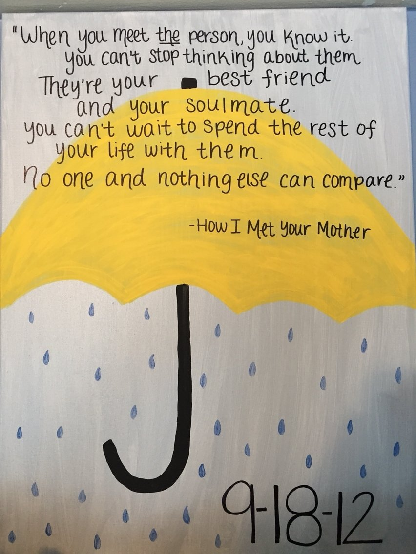 10 Lovely How I Met Your Mother Gift Ideas how i met your mother quote canvas ideas pinterest met and himym 2021