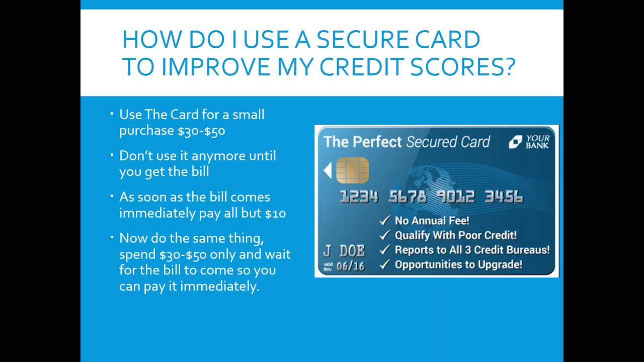 10 Fabulous Is A Secured Credit Card A Good Idea how i used a secured credit card to improve my credit scores 2 youtube 2020