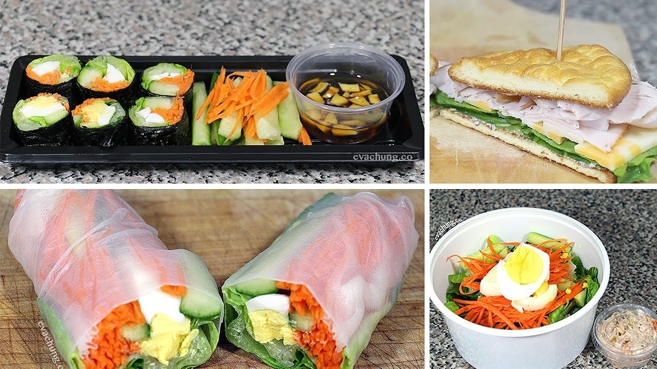 how to | 3 back to school quick & easy healthy lunch ideas | eva