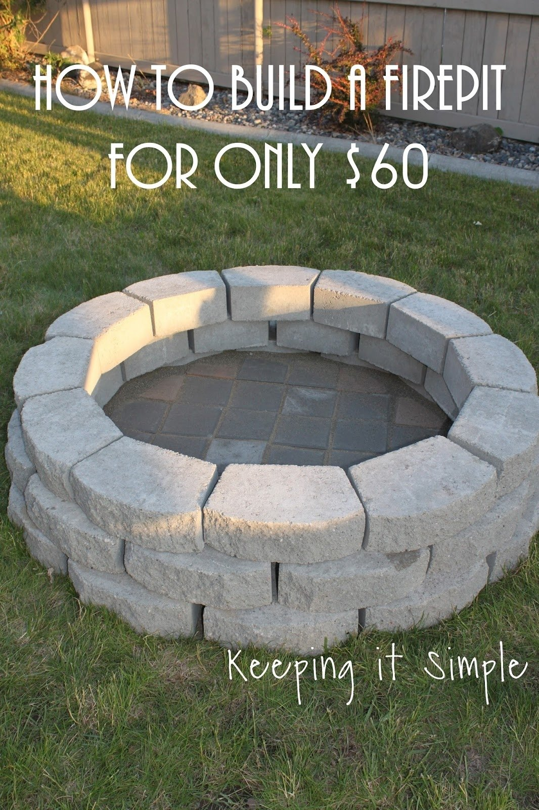 10 Fashionable Homemade Outdoor Fire Pit Ideas how to build a diy fire pit for only 60 e280a2 keeping it simple 4 2021