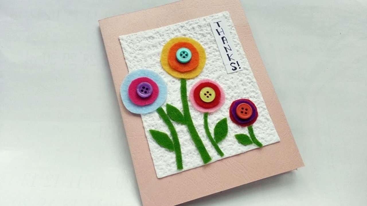 10 Pretty Homemade Thank You Card Ideas