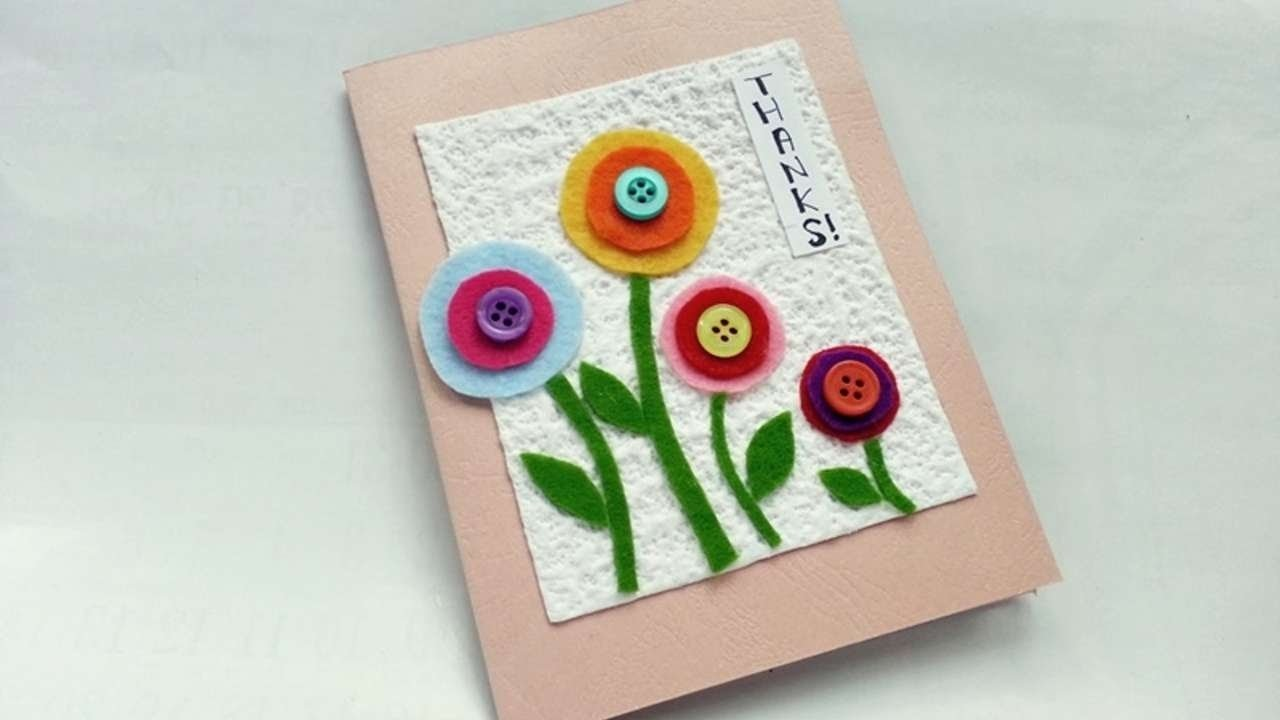 how to create a nice thank you card - diy crafts tutorial