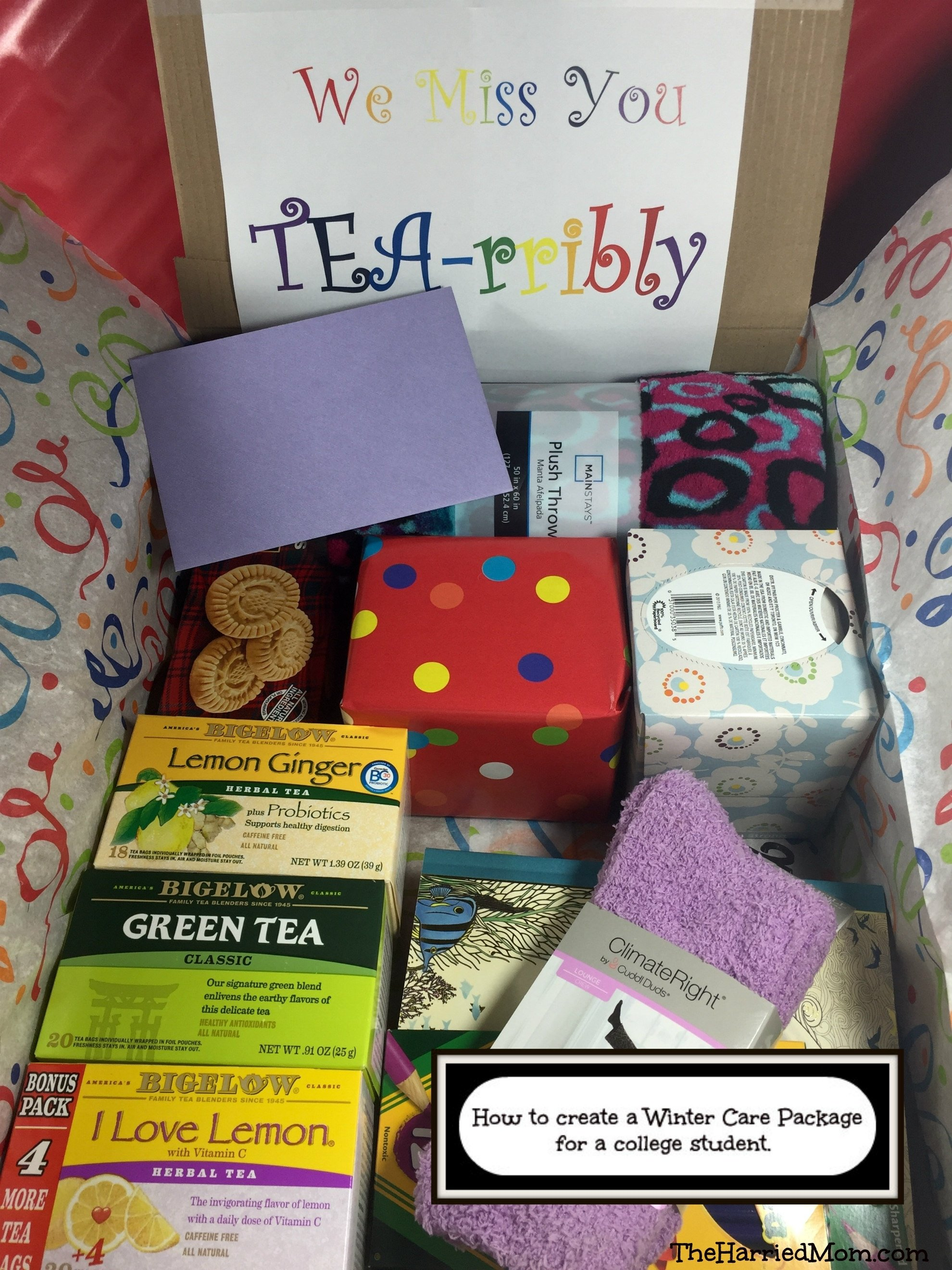 10 Stylish Care Package Ideas For College Girls how to create a winter care package for a college student 2