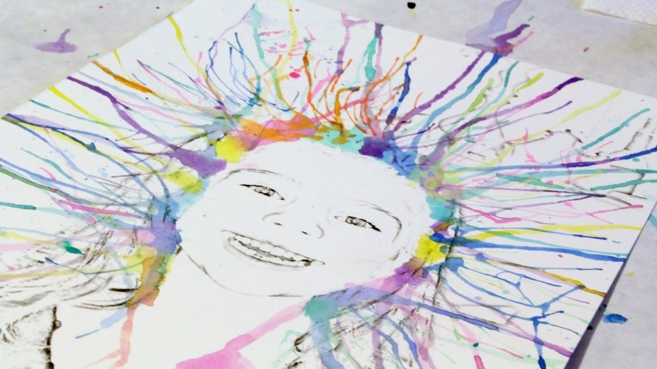 how to create fun watercolor art with your kids - diy crafts