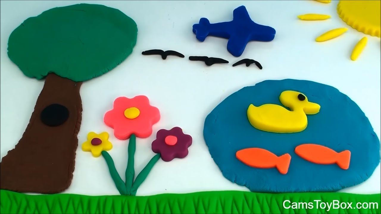 10 Wonderful Play Doh Ideas For Kids how to create play doh picture park scene fun creative playdough 2021