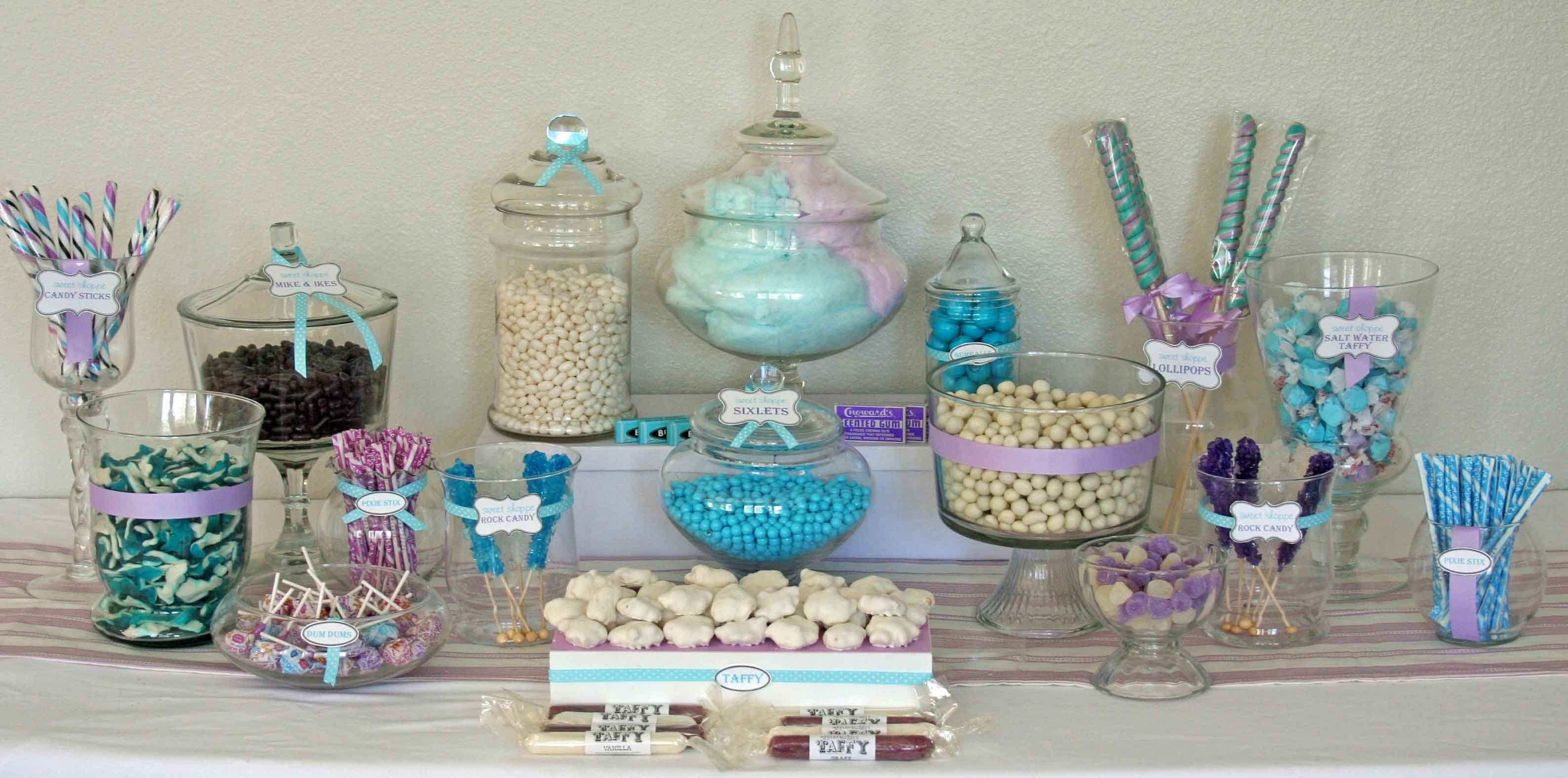 10 Pretty Candy Table Ideas For Baby Shower how to create the perfect diy candy buffet my love of style my