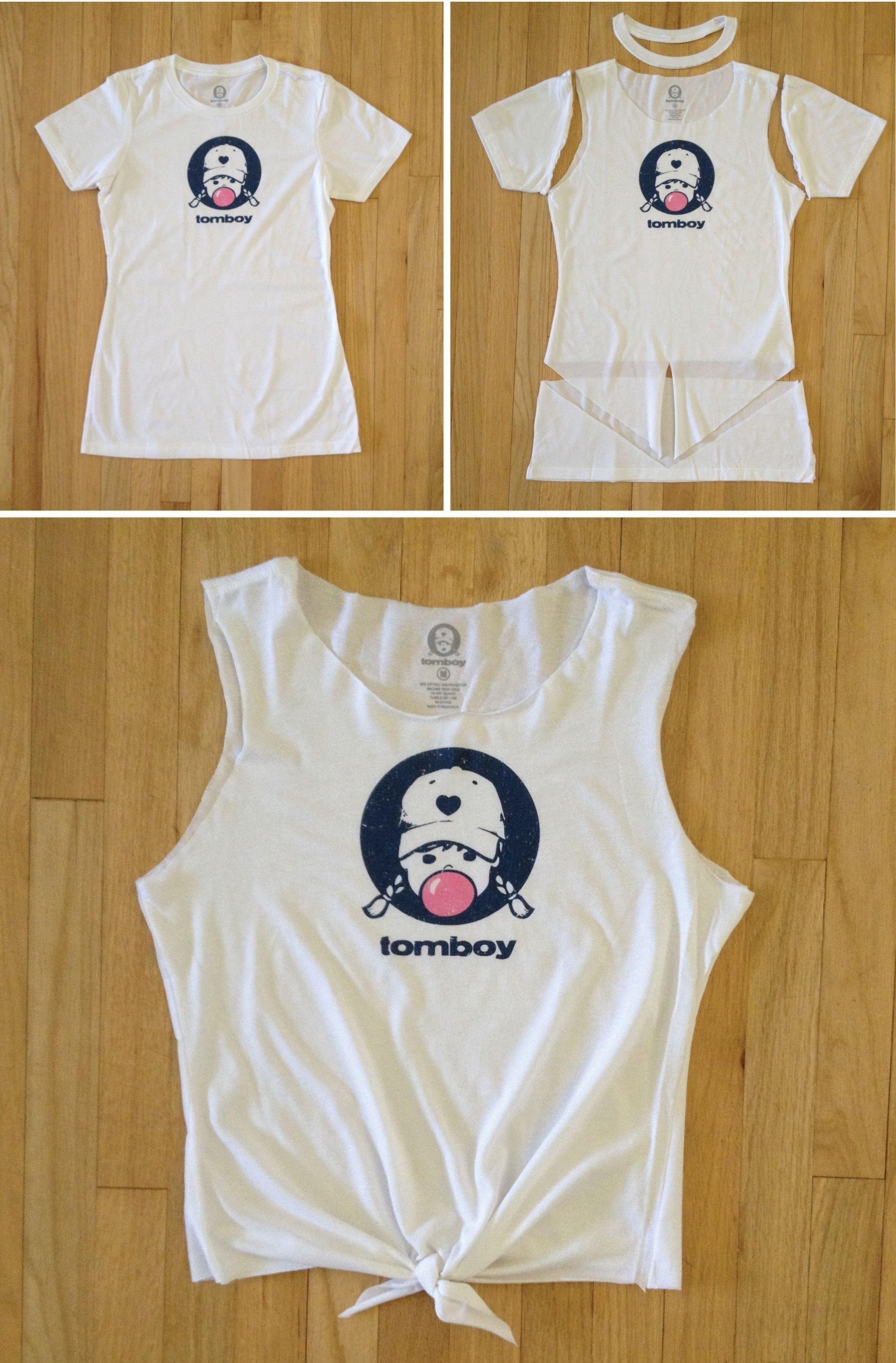 10 Attractive Cool T Shirt Cutting Ideas how to cut a t shirt into a crop top diy tutorial diy tank tomboy 1 2021
