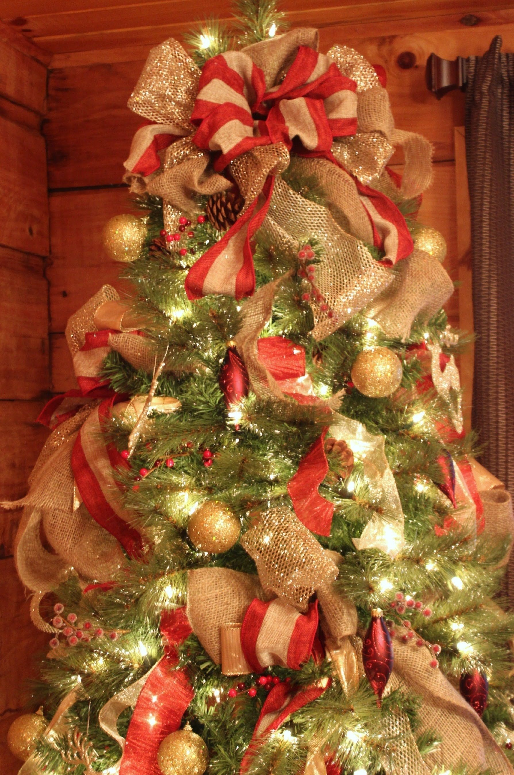 10 Lovely Ribbon On Christmas Tree Decorating Ideas how to decorate a wonderful christmas tree very easy diy youtube 2020