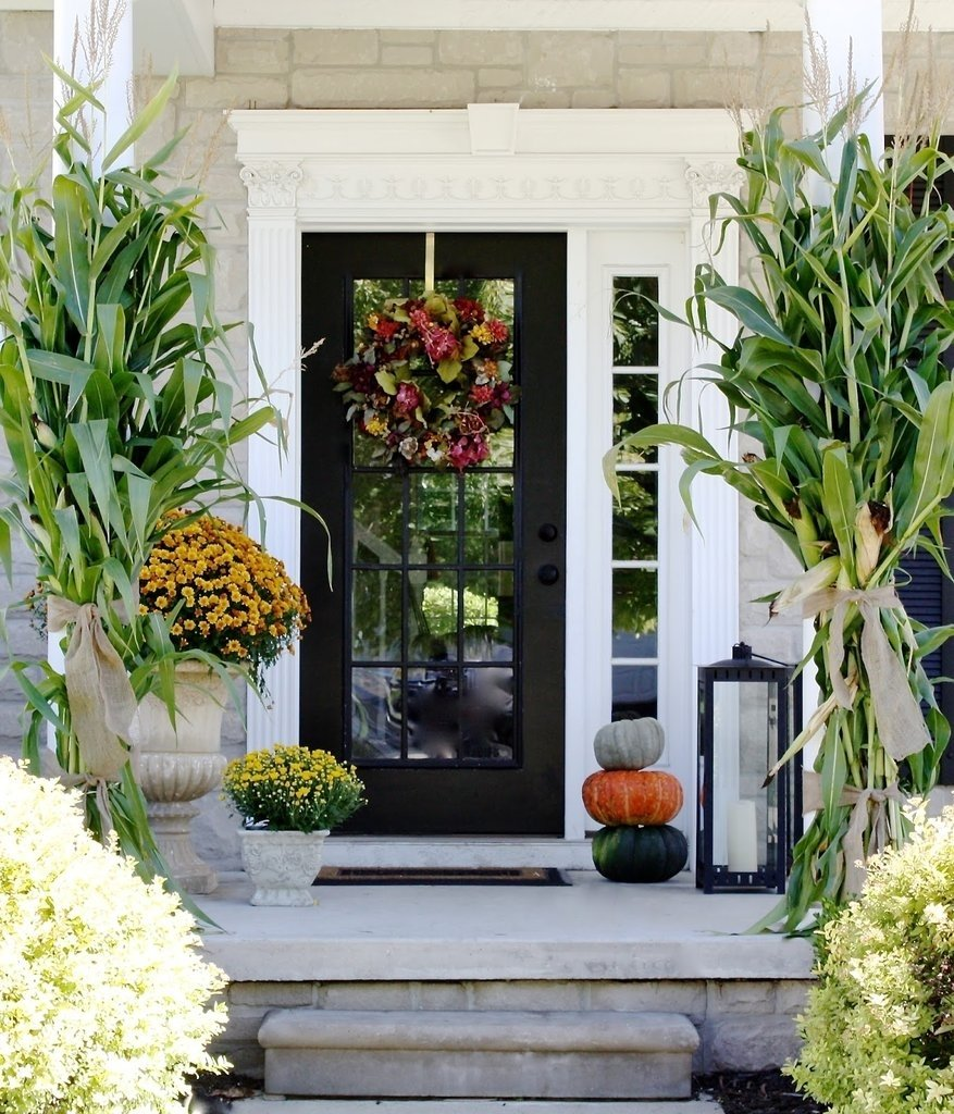 10 Lovely Front Porch Decorating Ideas For Fall how to decorate your porch for fall popsugar home 1