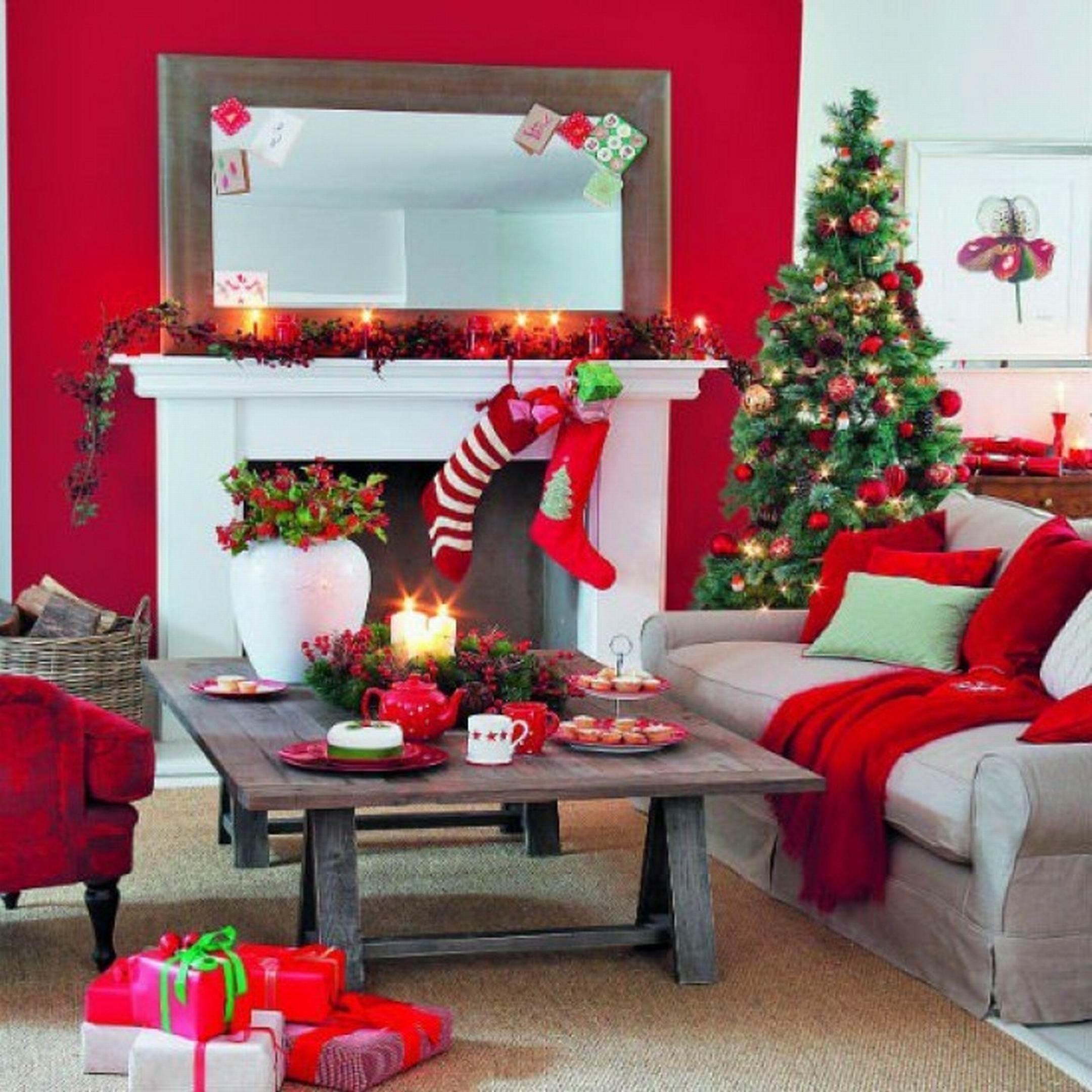 10 Pretty Christmas Decorations Ideas For Living Room how to decorate your room for christmas decoration ideas decor small 2021