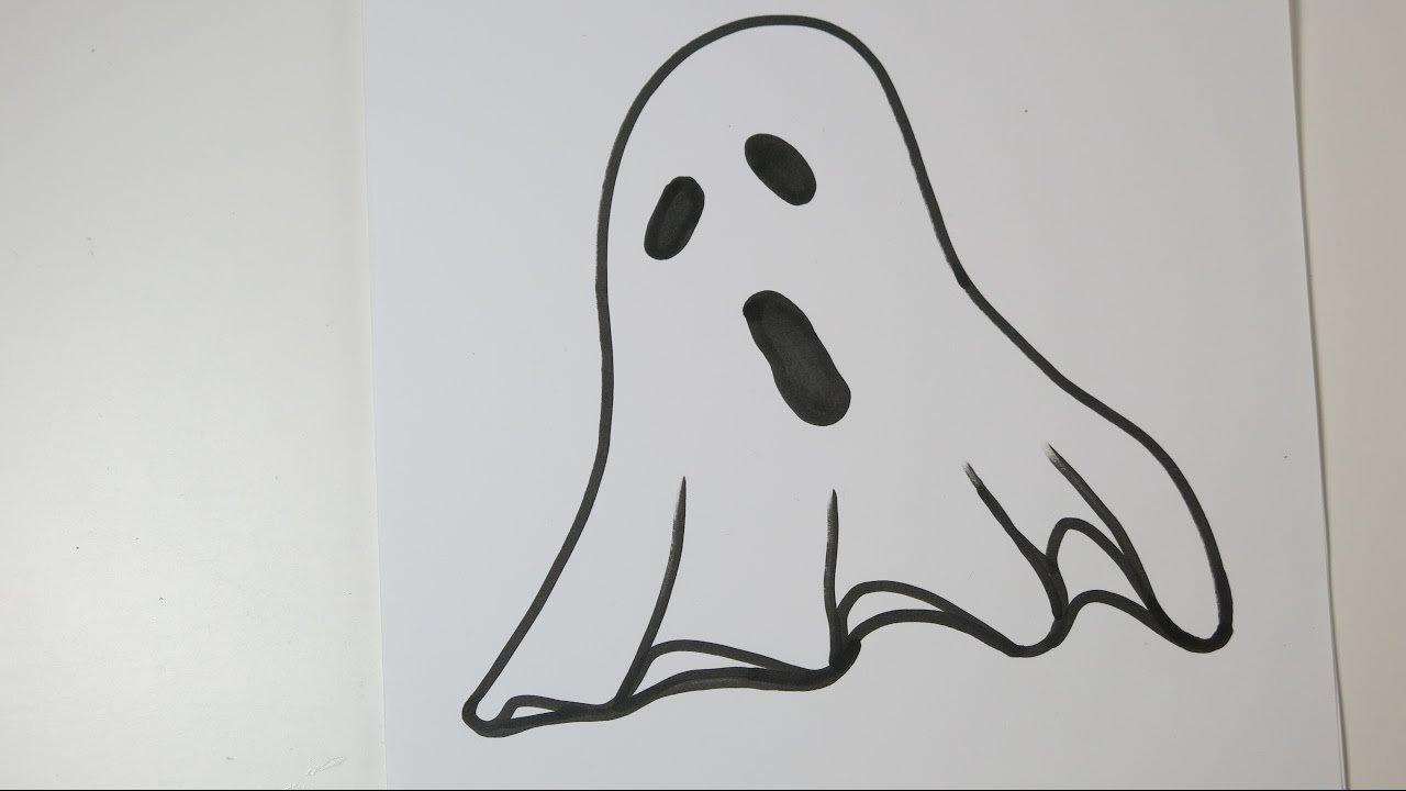 how to draw a ghost. easy drawing ideas for halloween - youtube