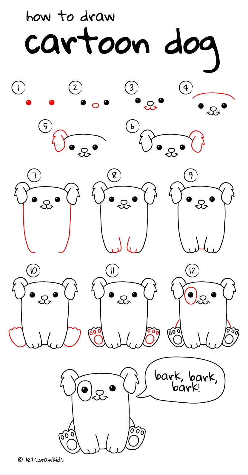 10 Elegant Drawing Ideas For Kids Step By Step how to draw cartoon dog easy drawing stepstep perfect for 2021