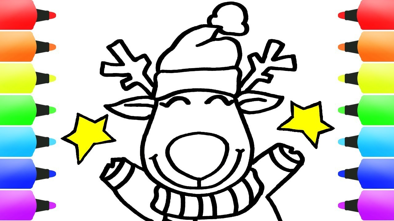 10 Unique Ideas For Kids To Draw how to draw christmas stuff for kids christmas reindeer xmas 2020