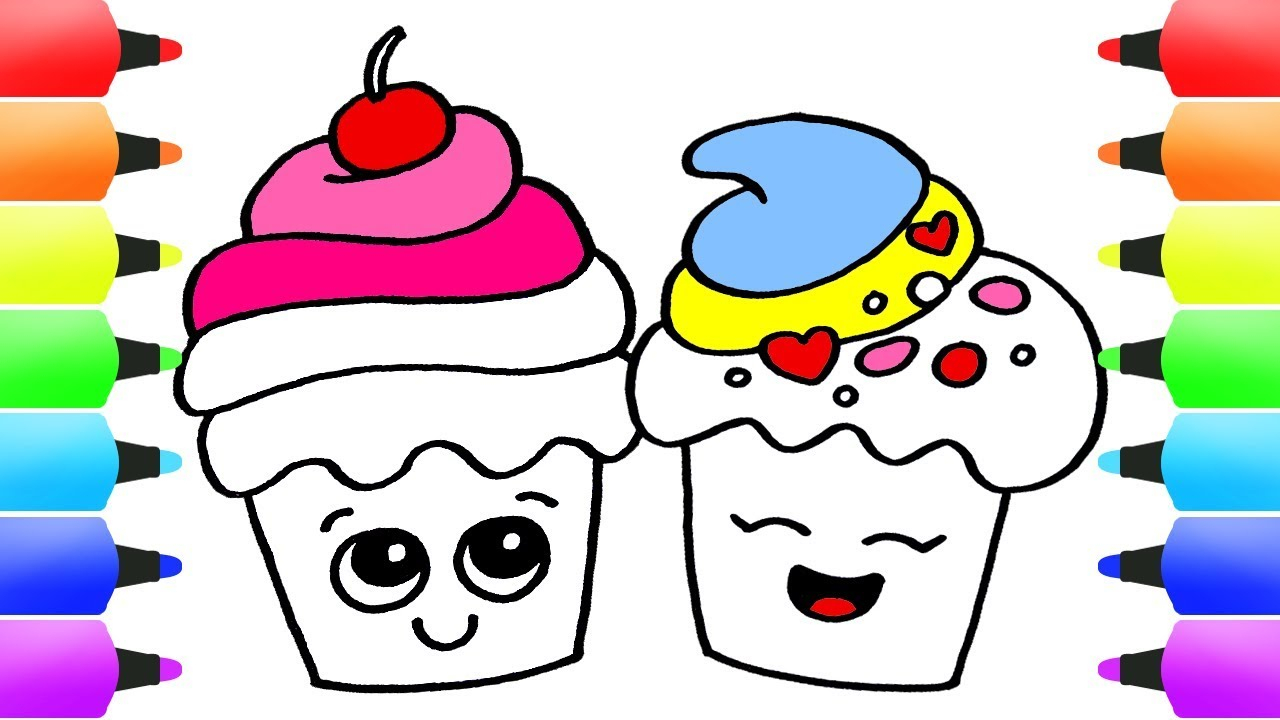how to draw cupcakes easy drawing ideas for kids! delicious cute