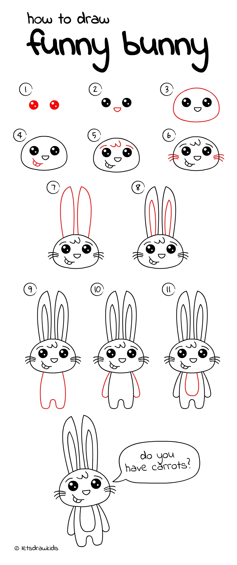 10 Elegant Drawing Ideas For Kids Step By Step how to draw funny bunny easy drawing stepstep perfect for 2021