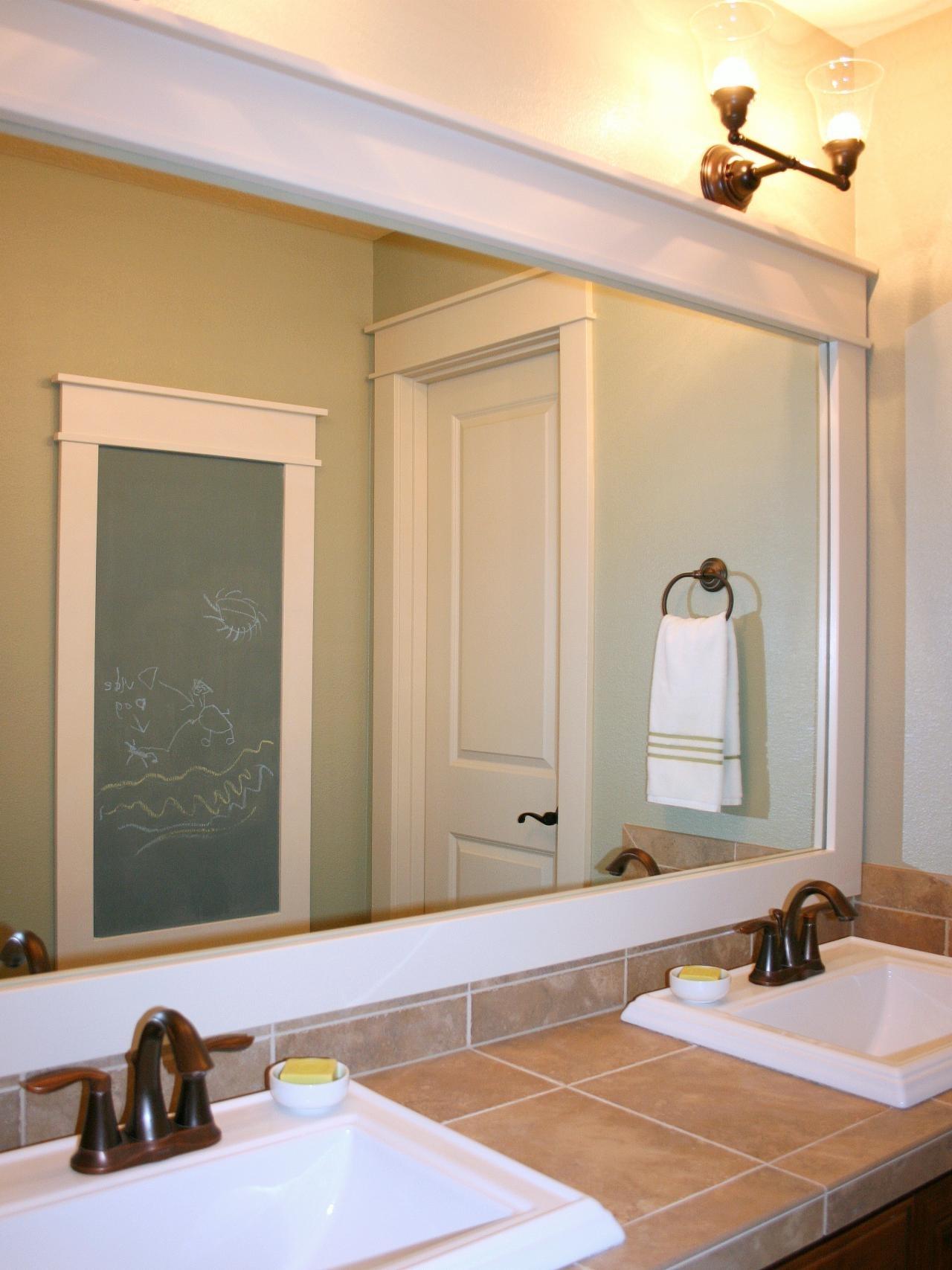 10 Lovable Diy Bathroom Mirror Frame Ideas %name 2020